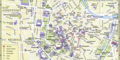 Austria Cartina Turistica.Vienna Austria Mappa Turistica Citta Di Vienna Mappa